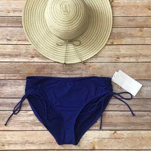Athlete Full Scrunch Swimsuit Bottoms Blue Size M